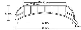 Medidas De Fabricación De Bovedilla Cerámica Curva