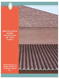 Breves notas sobre colocación de Teja Curva